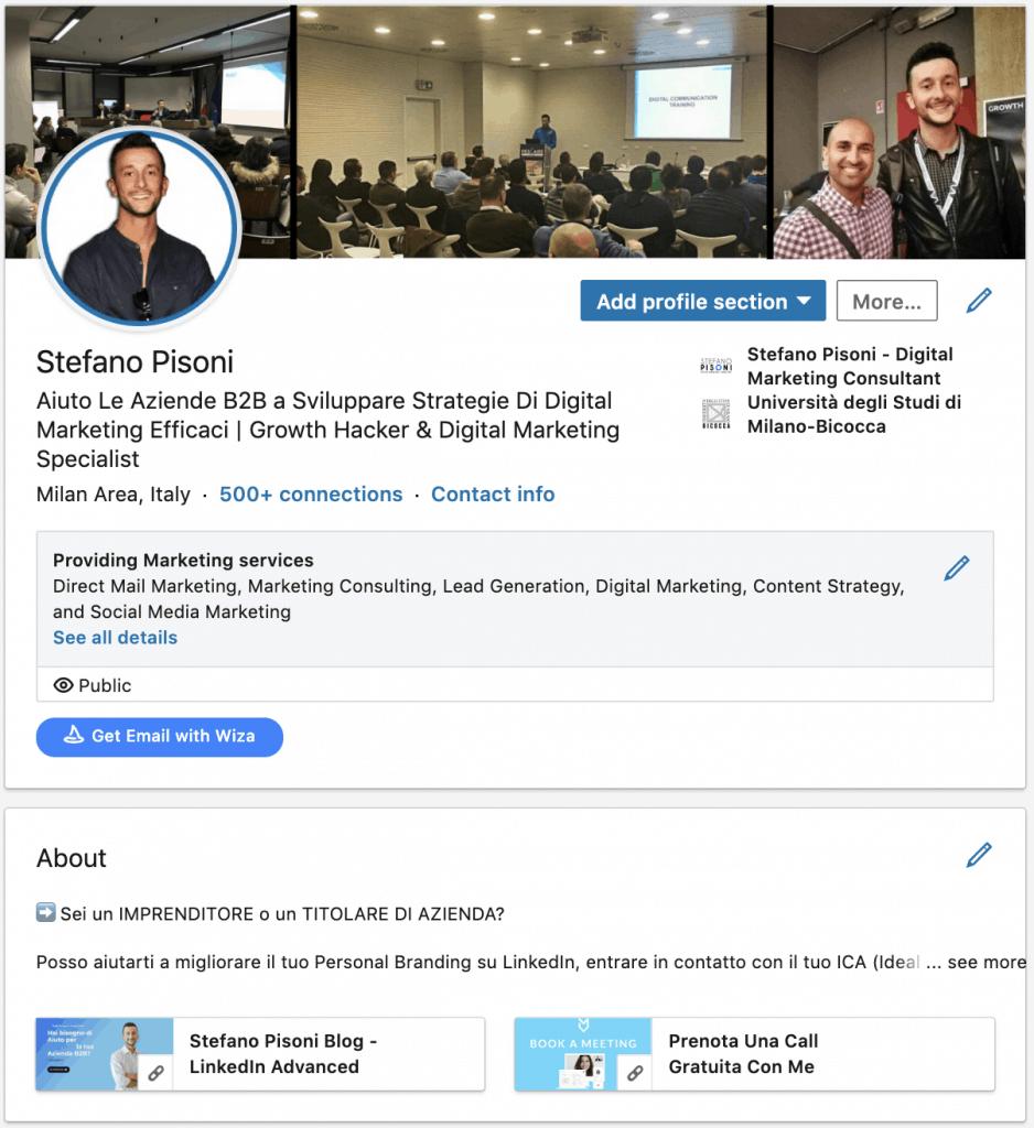 ottimizzazione profilo LinkedIn