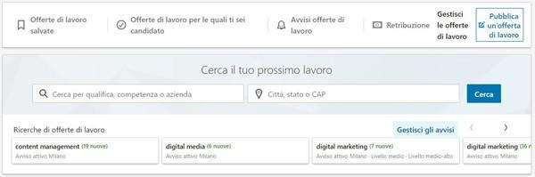 Trovare lavoro con LinkedIn Job Alert Stefano Pisoni