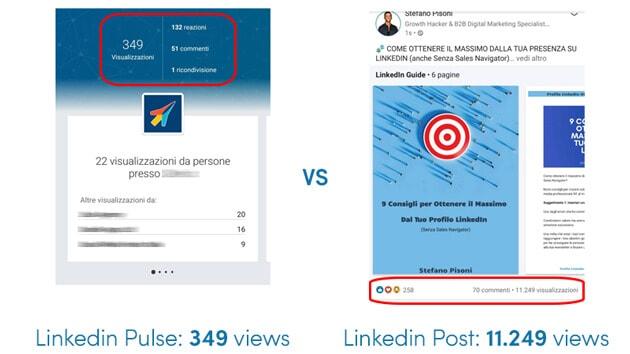 Trovare lavoro con LinkedIn Pulse vs Post Stefano Pisoni