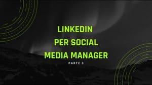 linkedin social media manager